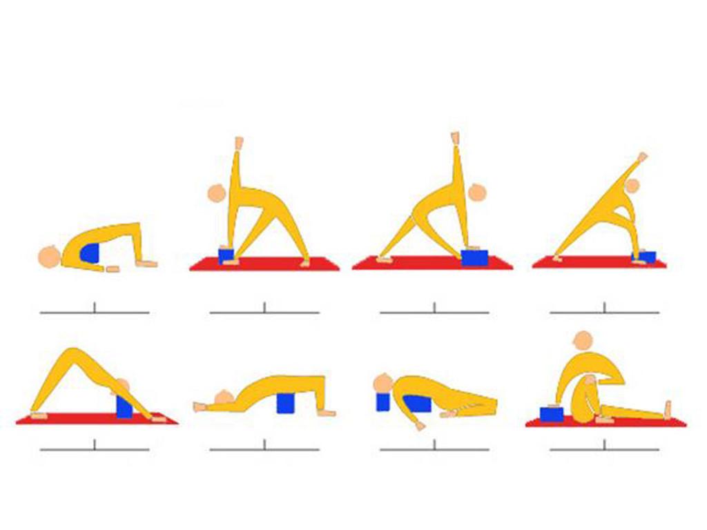 Bloc de yoga Eva fin - 30cm x 20cm x 2,8cm Bleu