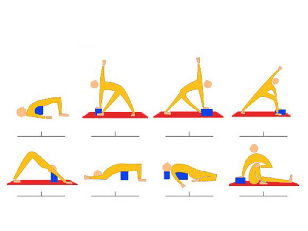 Bloc de yoga Eva fin - 30cm x 20cm x 2,8cm Prune