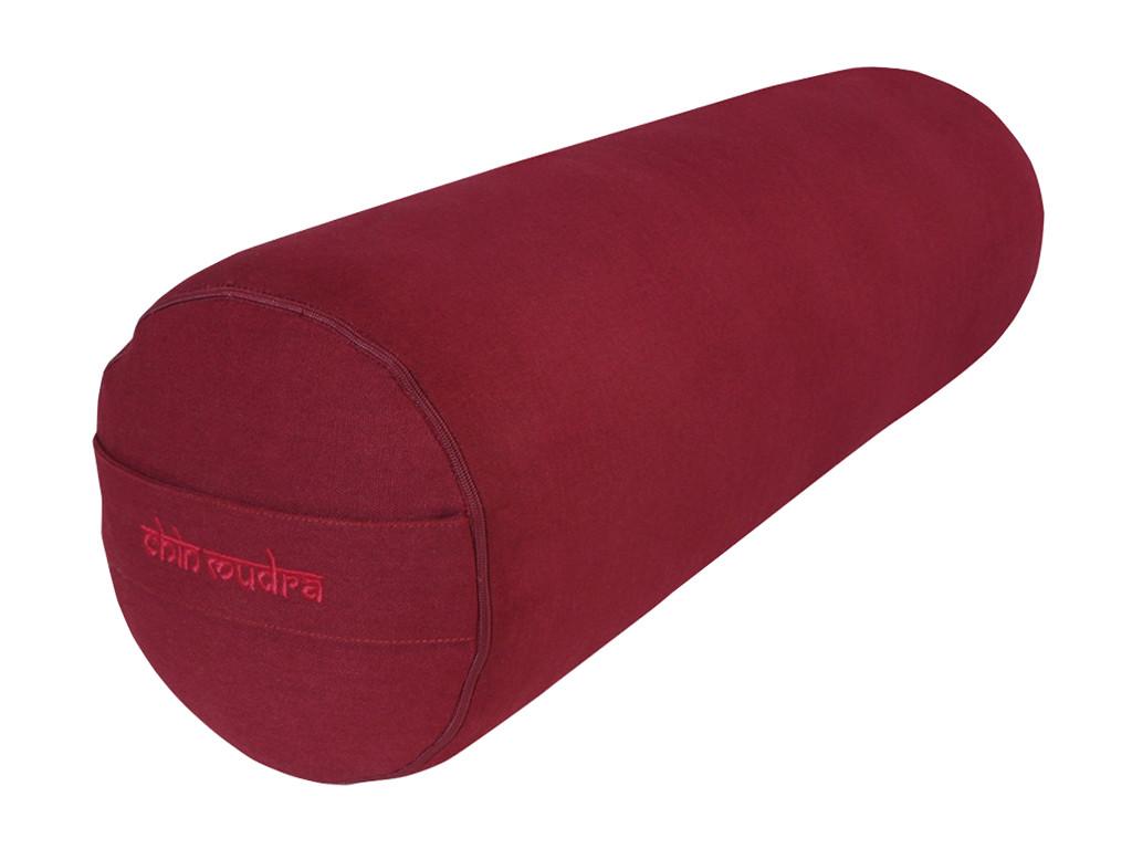 Bolster de yoga 100 % coton Bio 65 cm x 21 cm KAPOK Bordeaux