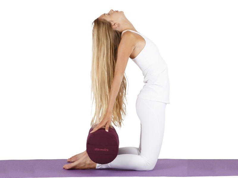 Bolster de yoga 100 % coton Bio 65 cm x 21 cm KAPOK Prune