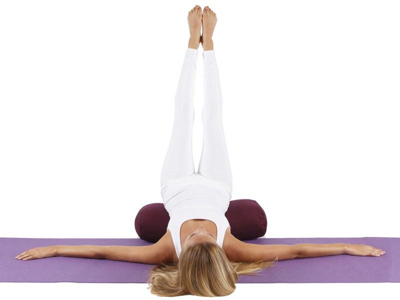 Bolster de yoga 100 % coton Bio 65 cm x 21 cm KAPOK Vert