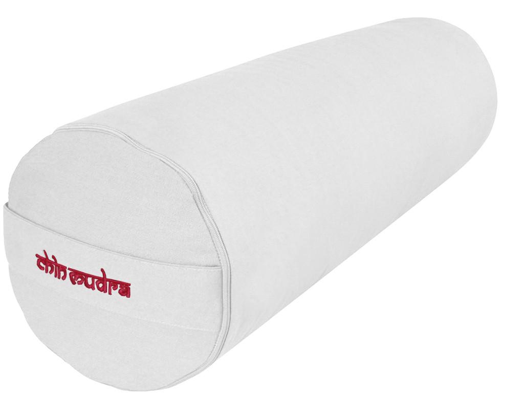 Bolster de yoga 100 % coton Bio Epeautre 65 cm x 21 cm Ecru