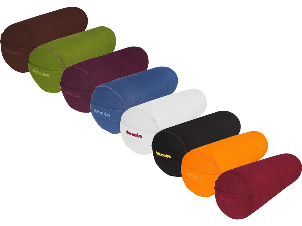 Bolster de yoga 100 % coton Bio Epeautre 65 cm x 21 cm Lot 6