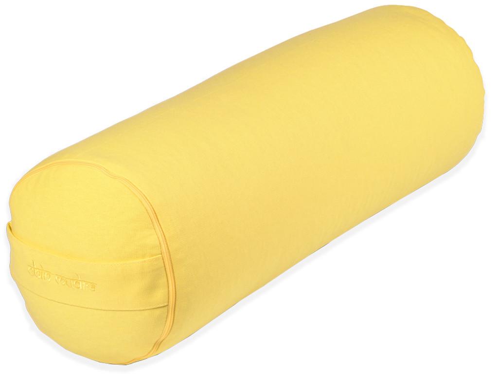 Bolster de yoga 100 % coton Bio Epeautre 65 cm x 21 cm Jaune