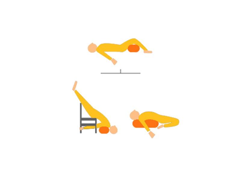 Bolster de yoga Ovale KAPOK 100 % coton Bio 60 cm x15 cm x 30 cm Vert
