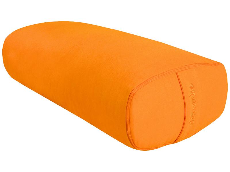 Bolster de yoga Ovale EPEAUTRE 100 % coton Bio 60 cm x15 cm x 30 cm Orange Safran