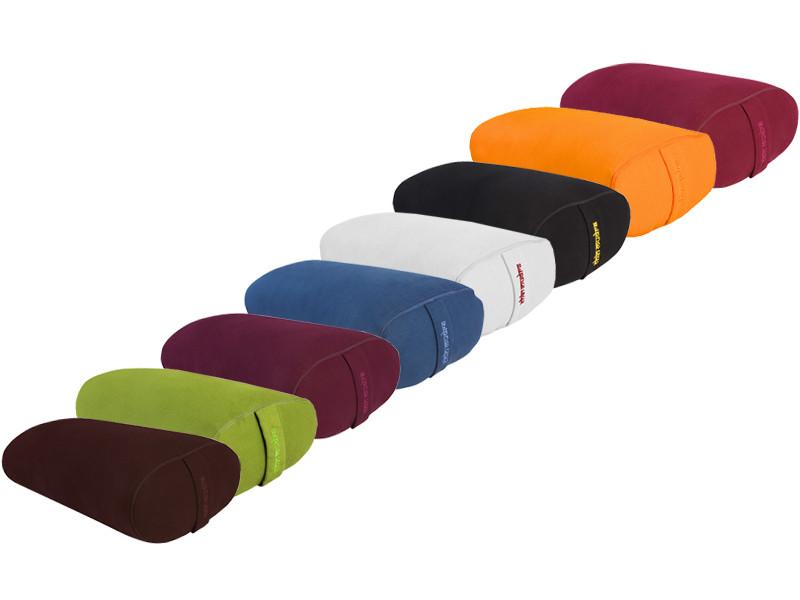 Bolster de yoga Ovale EPEAUTRE 100 % coton Bio 60 cm x15 cm x 30 cm Lot de 12