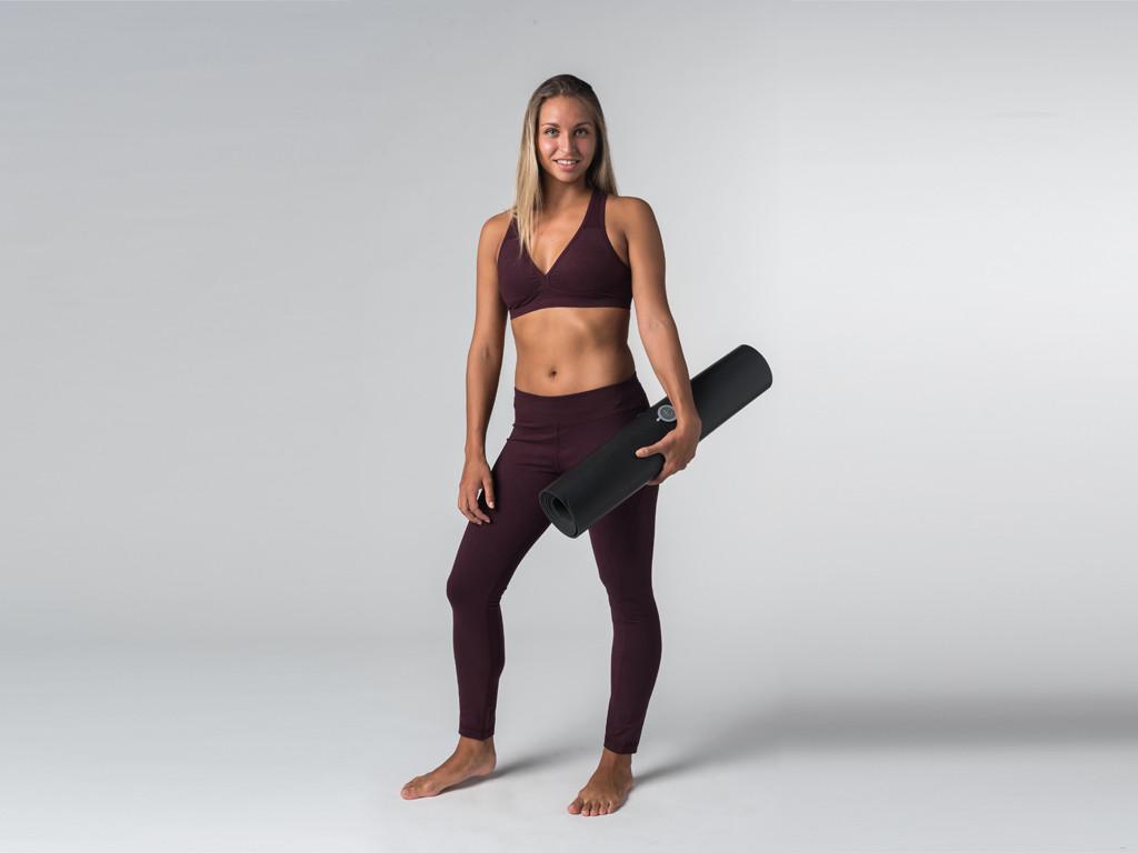 Brassière de Yoga Lift - Coton Bio Prune