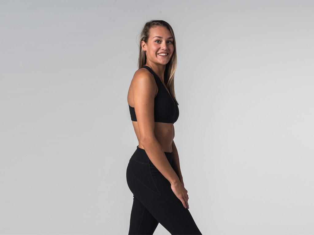 Brassière de Yoga Lift - Coton Bio Noir
