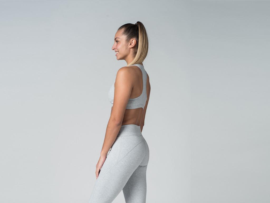 Brassière de Yoga Lift - Coton Bio Gris