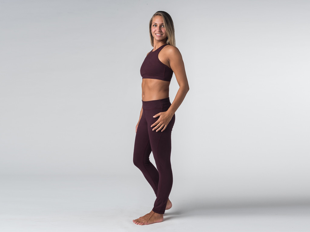 Brassière de Yoga studio - Coton Bio Prune