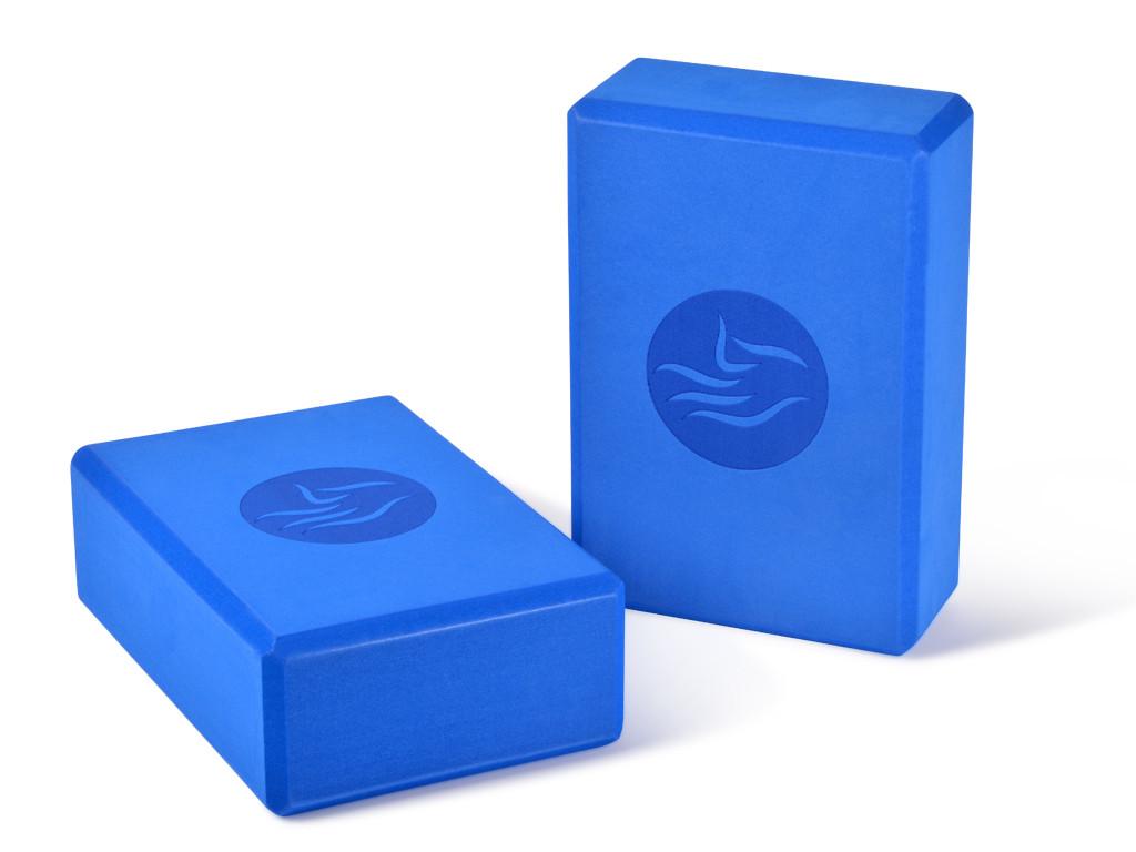 Brique de yoga Eva - 23 x 15 x 7.6 cm Bleu