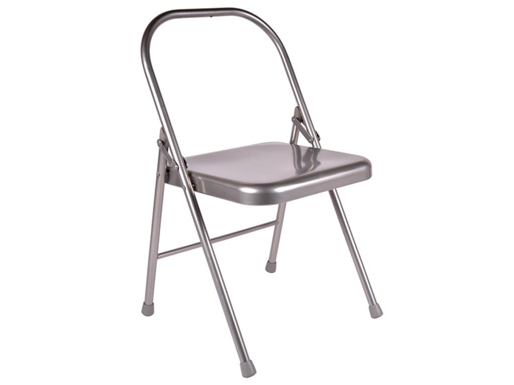 Chaise de Yoga 1 barre Grise Lot de 5
