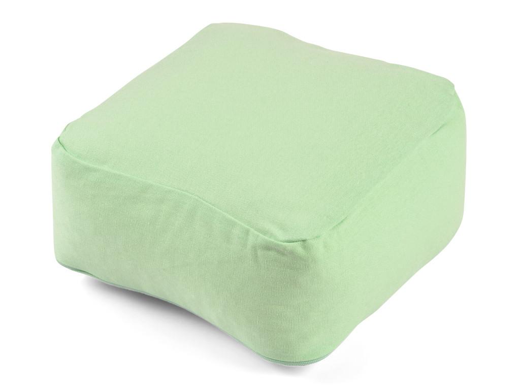 Coussin de méditation Carré Bio Vert Pastel