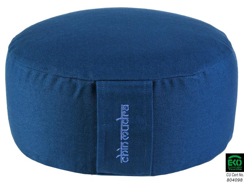 Coussin de méditation Lotus 100% coton Bio Bleu