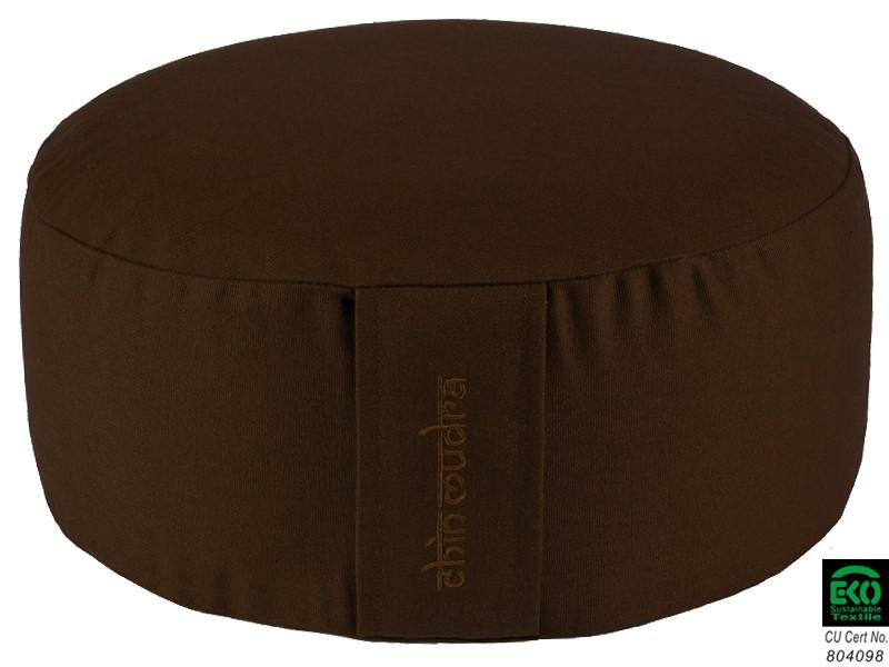 Coussin de méditation Lotus 100% coton Bio Chocolat