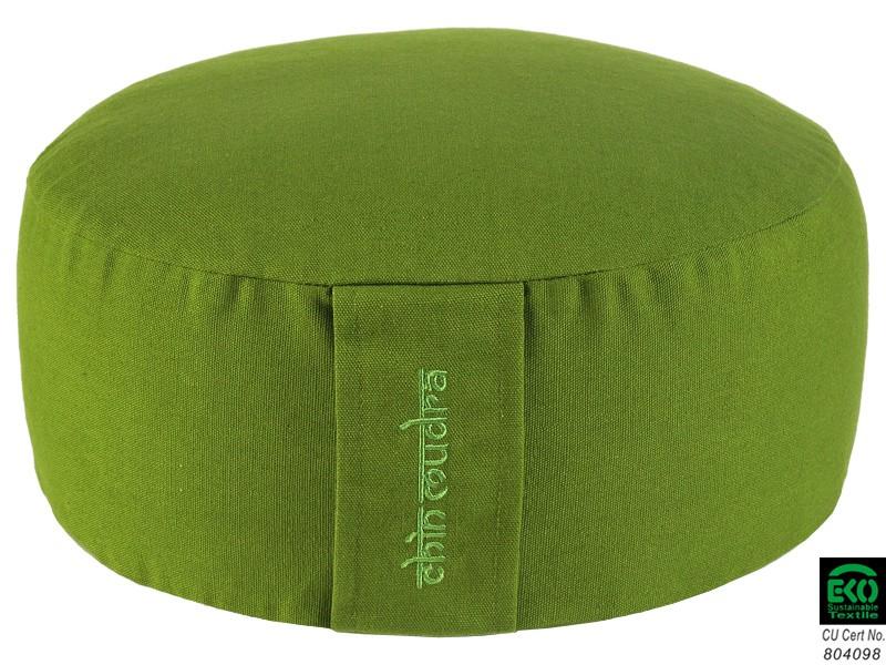 Coussin de méditation Lotus 100% coton Bio Vert