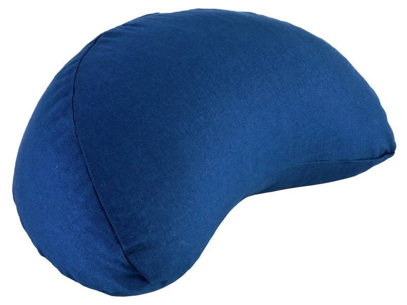 Coussin Fuzen (demi-lune) 100% coton Bio Bleu