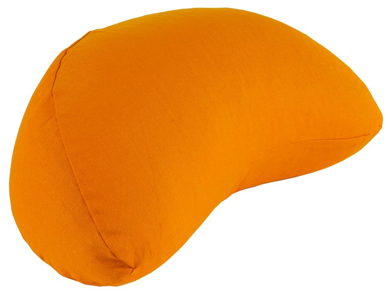 Coussin Fuzen (demi-lune) 100% coton Bio Orange Safran