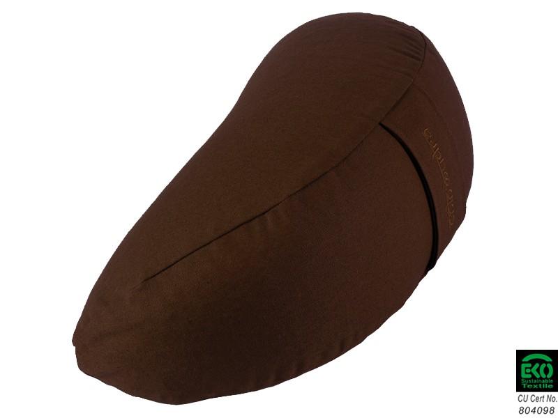 Coussin Fuzen (demi-lune) 100% coton Bio Chocolat