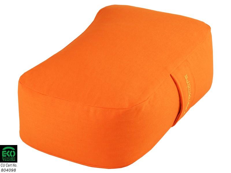 Coussin Rectangulaire Bio Orange Safran