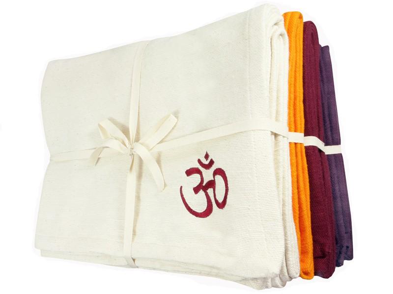 Couverture de yoga 100% coton bio 150cm X 200cm