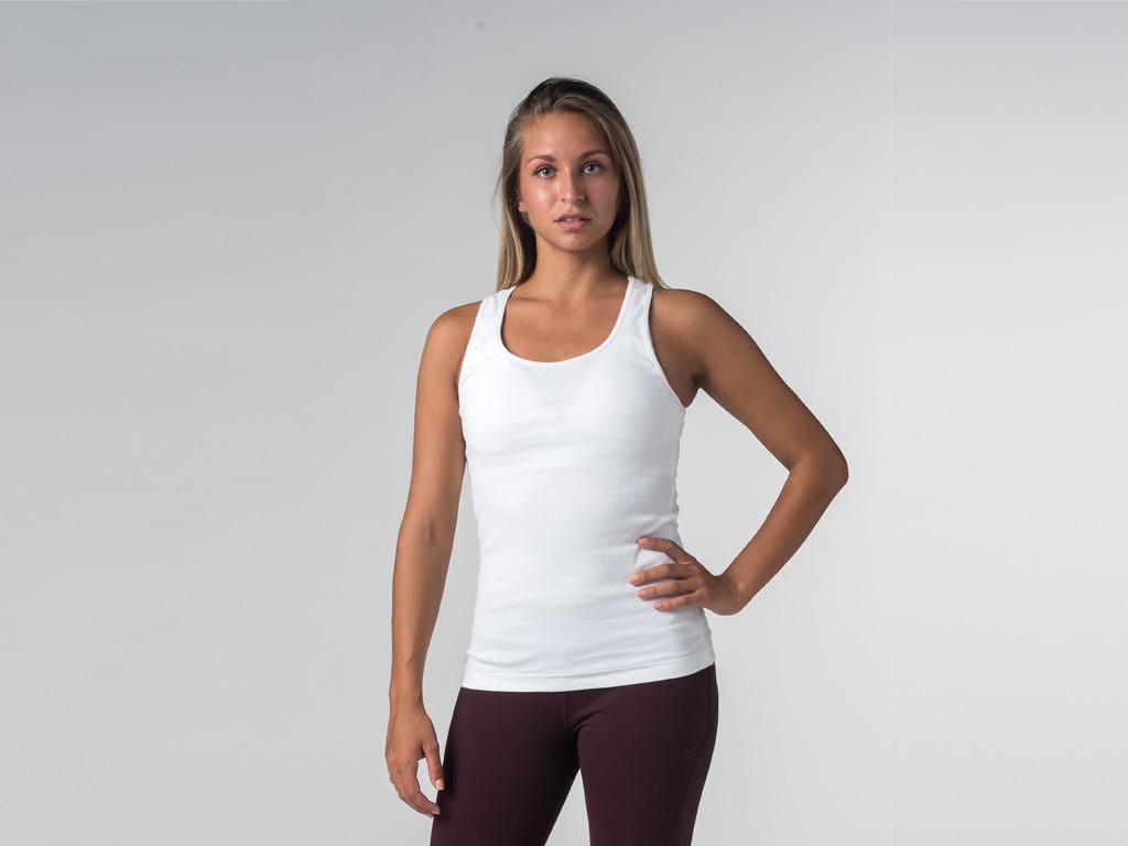Débardeur de yoga femmes - Coton bio Blanc
