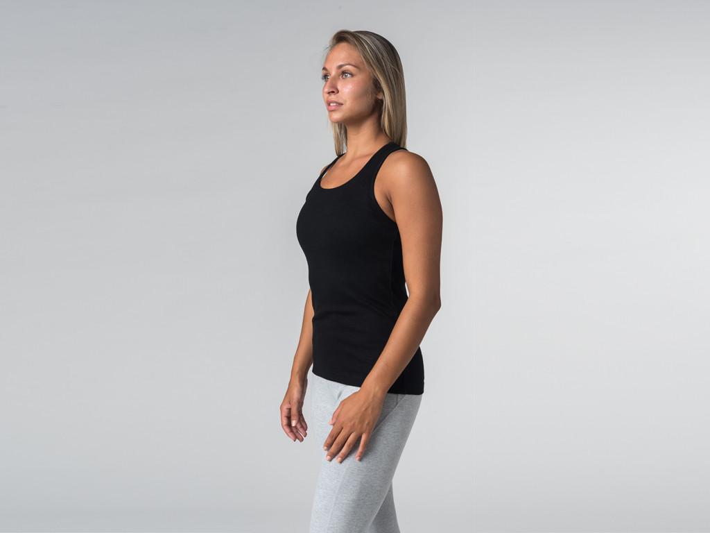 Débardeur de yoga femmes - Coton bio Noir