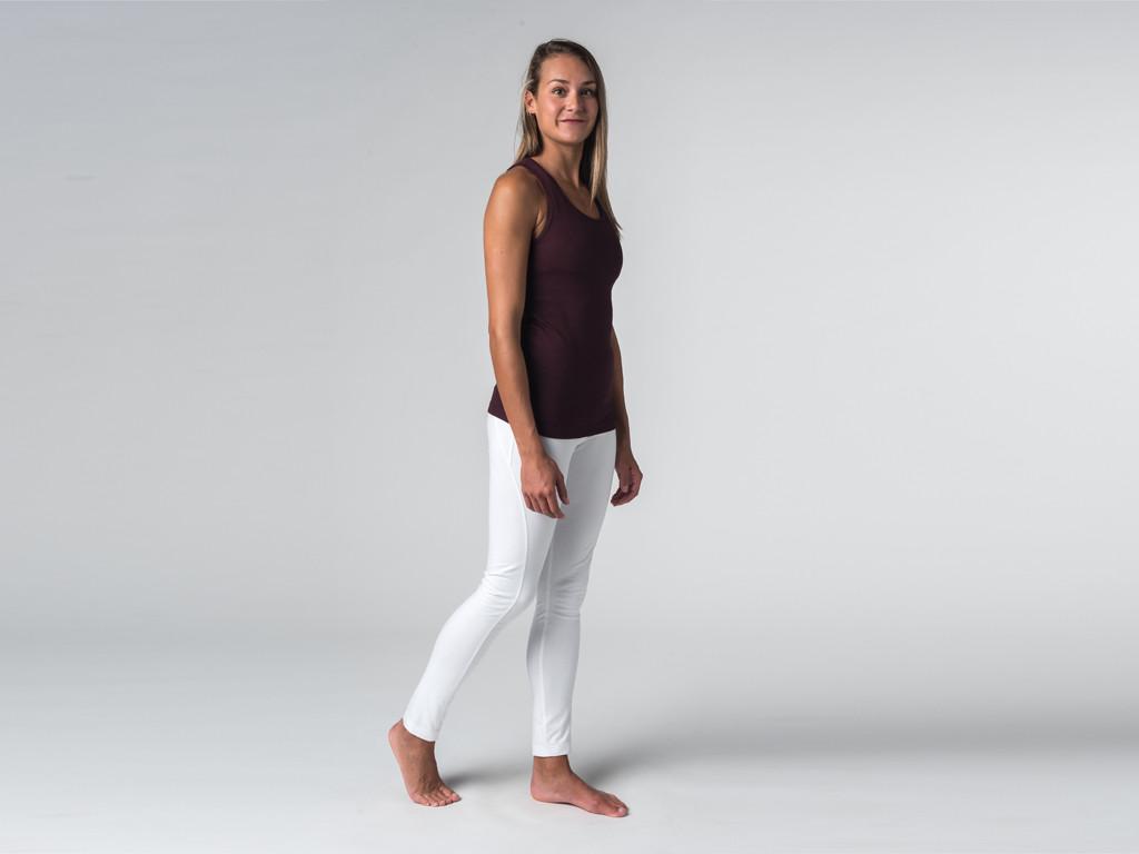 Débardeur de yoga femmes - Coton bio Prune