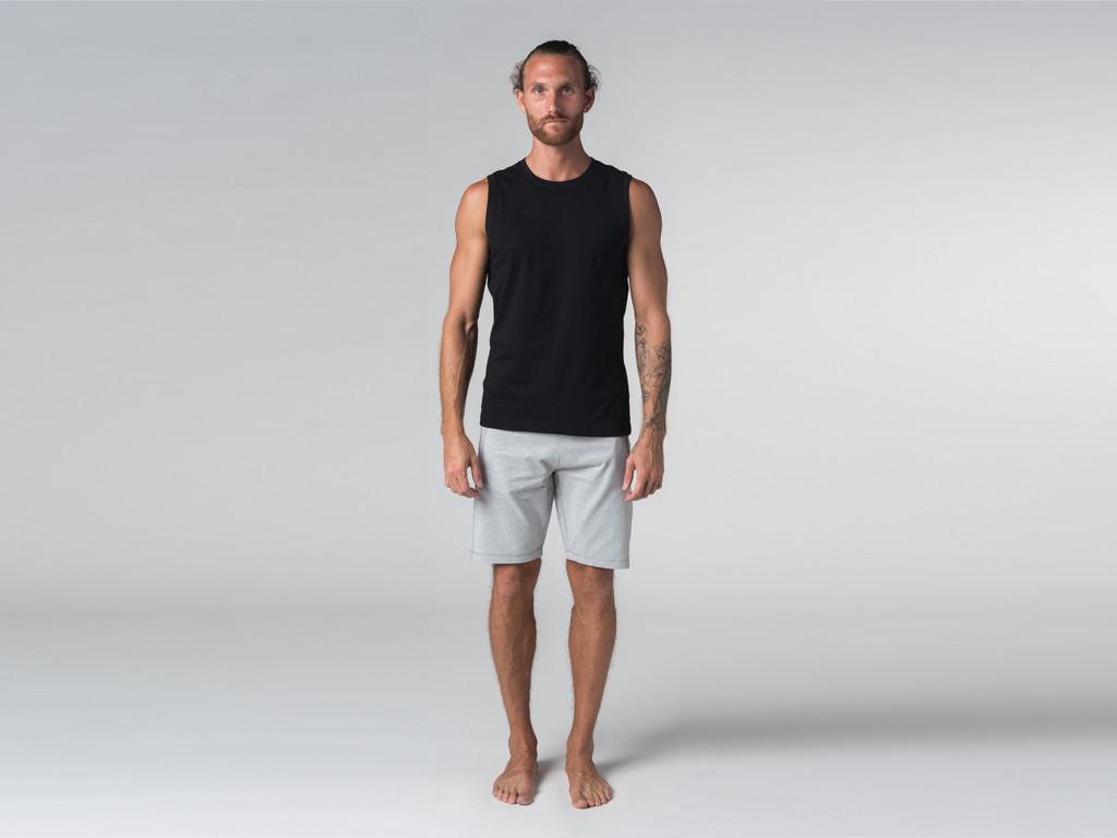 Débardeur de yoga hommes - Coton bio Noir