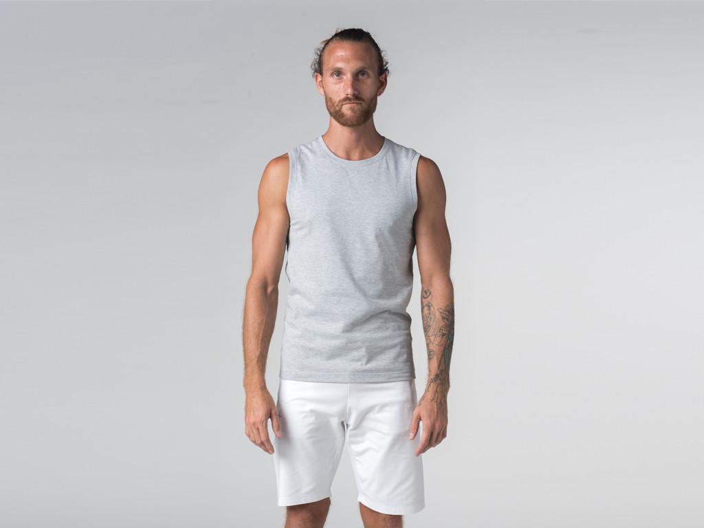Débardeur de yoga hommes - Coton bio Gris