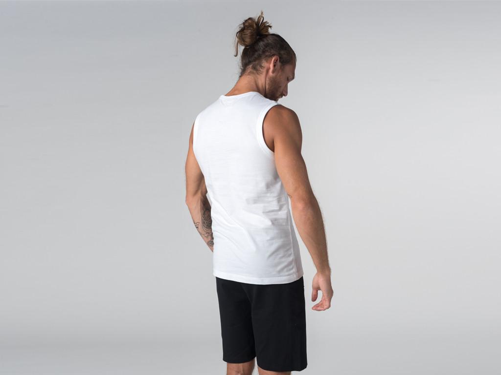 Débardeur de yoga hommes - Coton bio Blanc