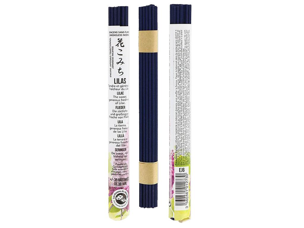 Encens Japonais ''sans fumée'' Lilas 35 bâtonnets x 30 min