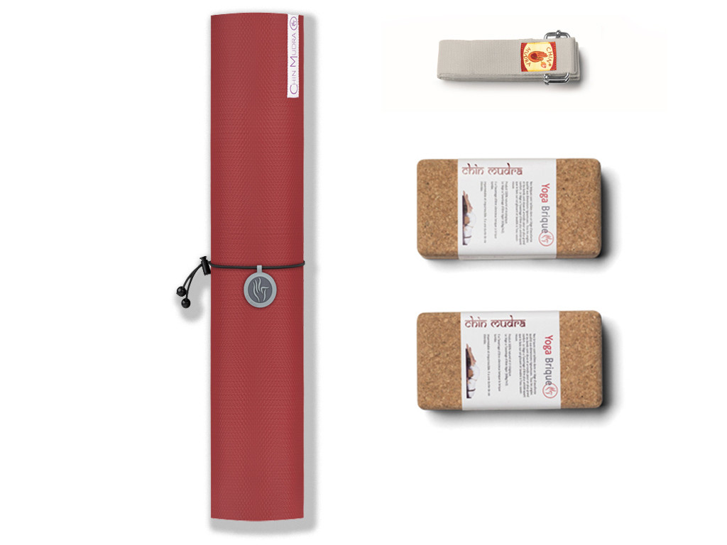 Kit de Yoga Intensive-Mat 6mm Bordeaux