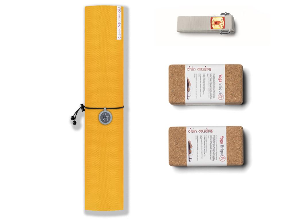 Kit de Yoga Intensive-Mat 6mm Jaune Safran