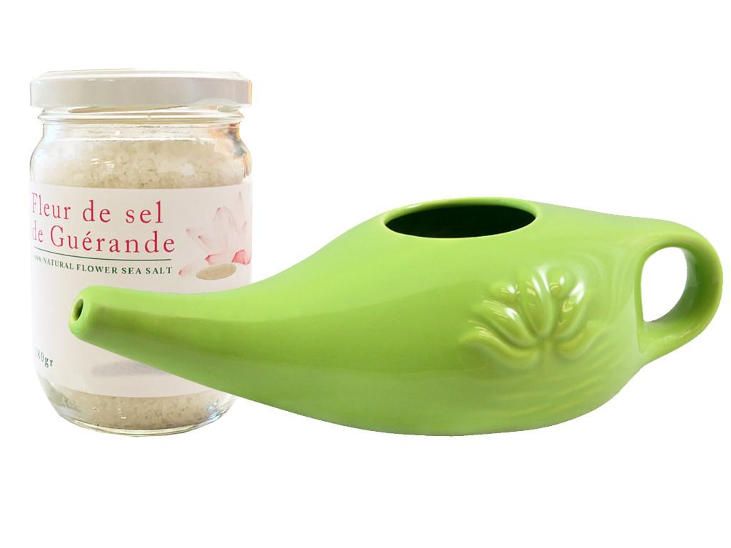 Kit Lota 250ml et Fleur de Sel Vert Amande