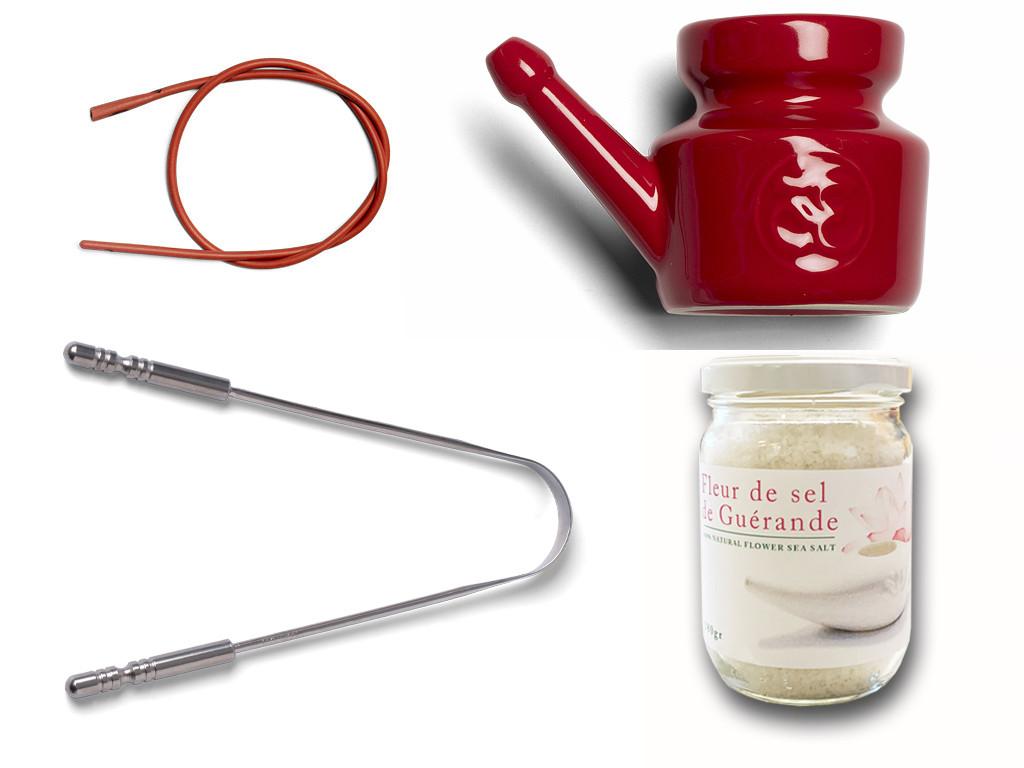 Kit Lota Jala Neti complet Porcelaine Red Chili Pepper 400 ml