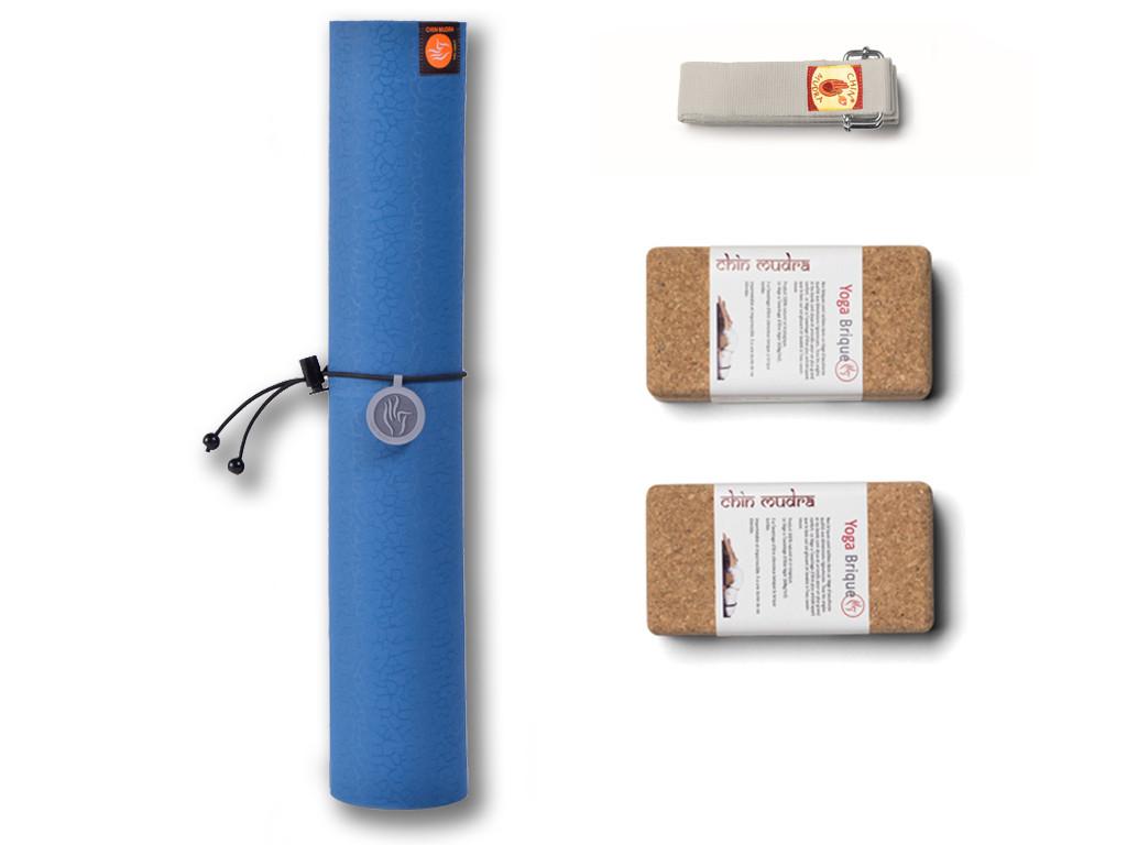 Kit Yoga Tri Mat Couleur Bleu