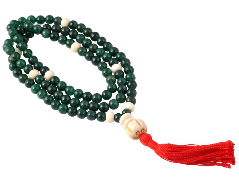 Mala 108 perles 8mm - Jade & Os