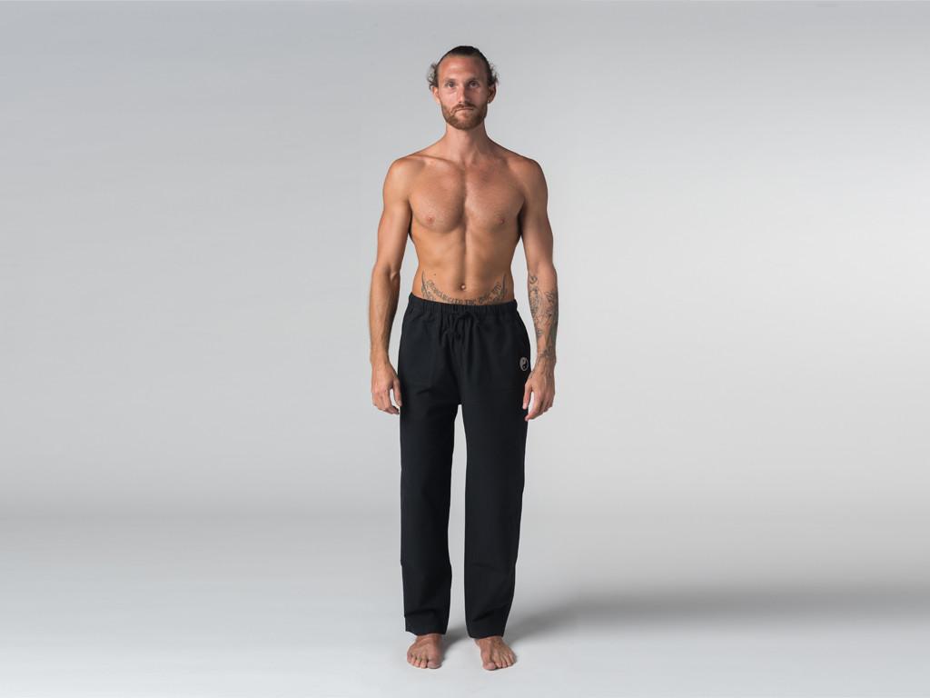 Pantalon de Tai Chi H/F Pavita - 100% coton Bio Noir