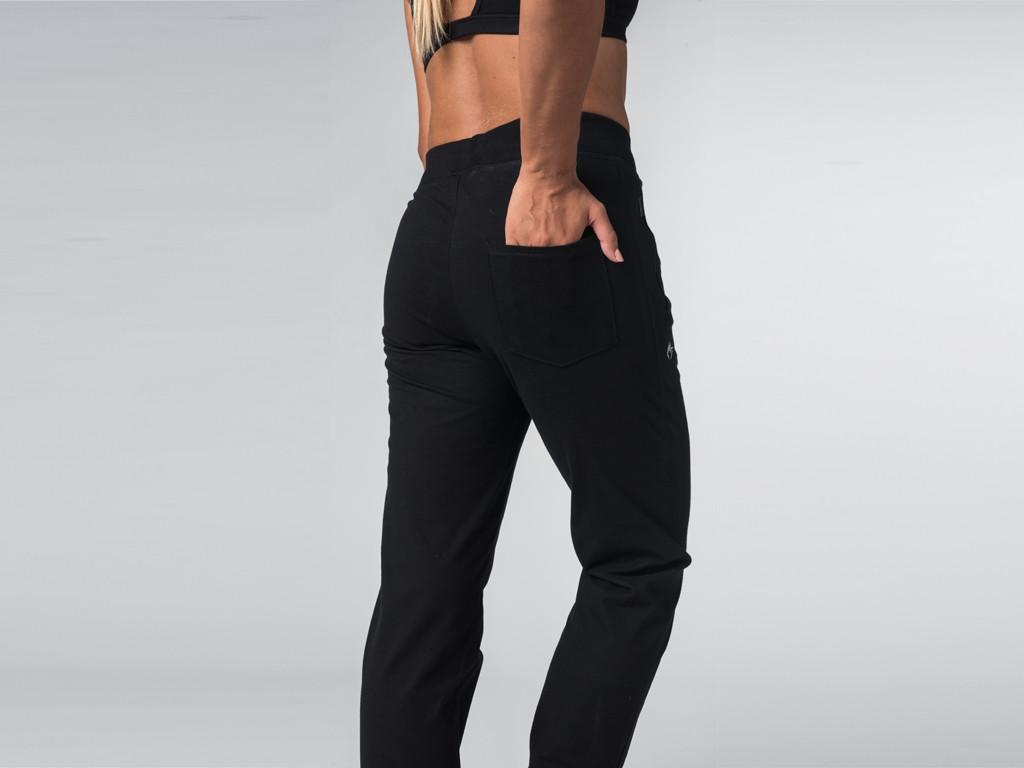 Pantalon de yoga Confort Femme - Coton Bio Noir