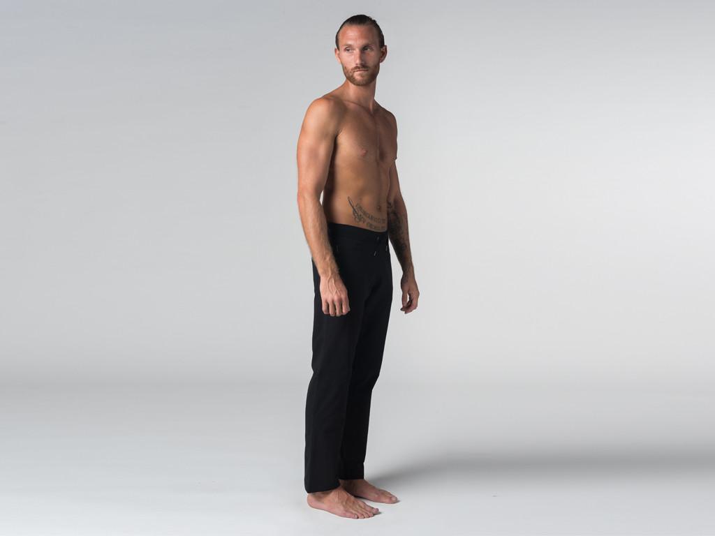 Pantalon de yoga Confort homme - Coton Bio Noir