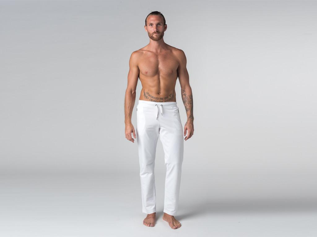 Pantalon de yoga Confort homme - Coton Bio Blanc