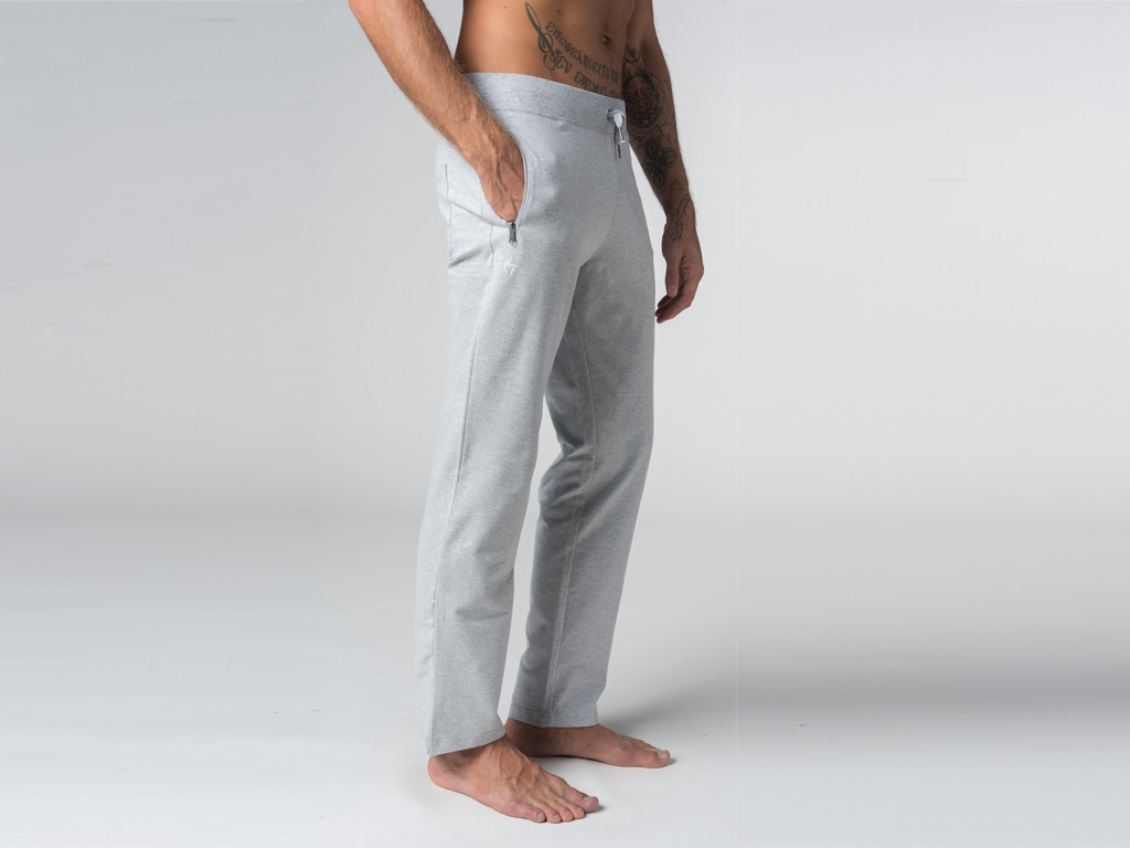 Pantalon de yoga Confort homme - Coton Bio Gris