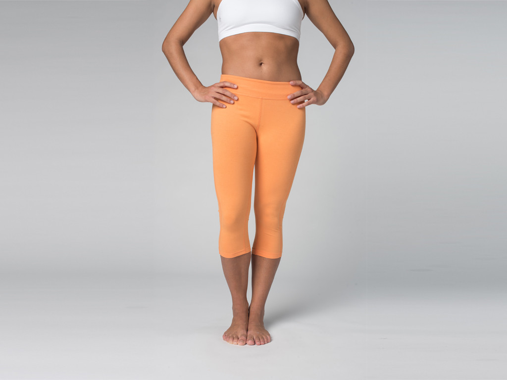 Pantalon de yoga Corsaire 95% coton Bio et 5% Lycra Mango