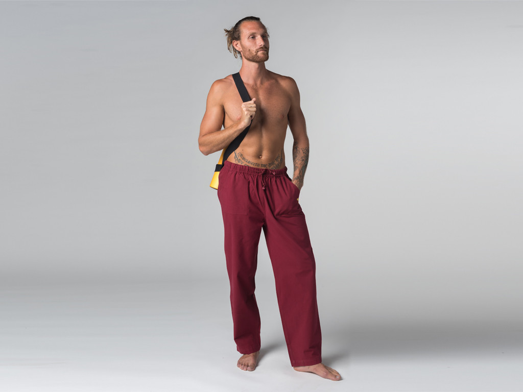 Pantalon de Yoga & de Tai Chi Oeil de bouddha Bordeaux