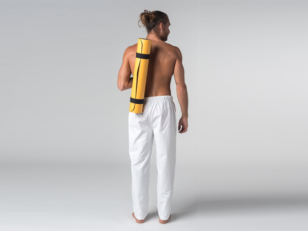 Pantalon de Yoga H/F Pavita - 100% coton Bio Blanc