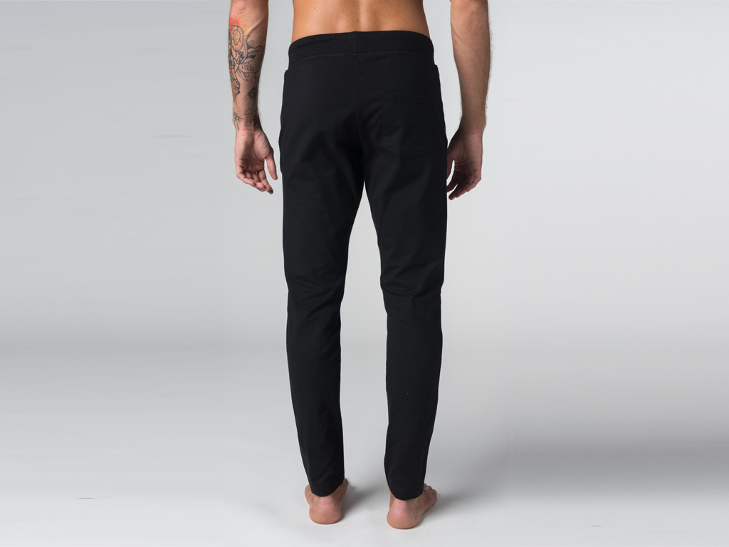 Pantalon de yoga Slim homme - Coton Bio Noir