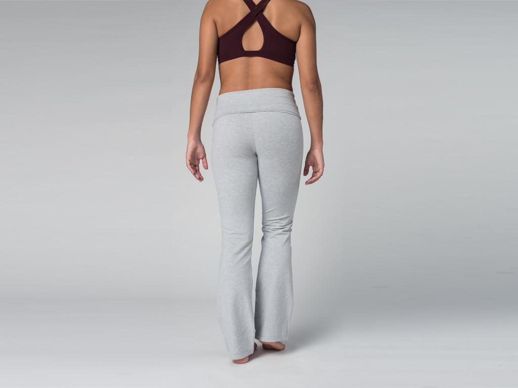 Pantalon de yoga Jazz - 95% coton Bio et 5% Lycra Gris Perlé