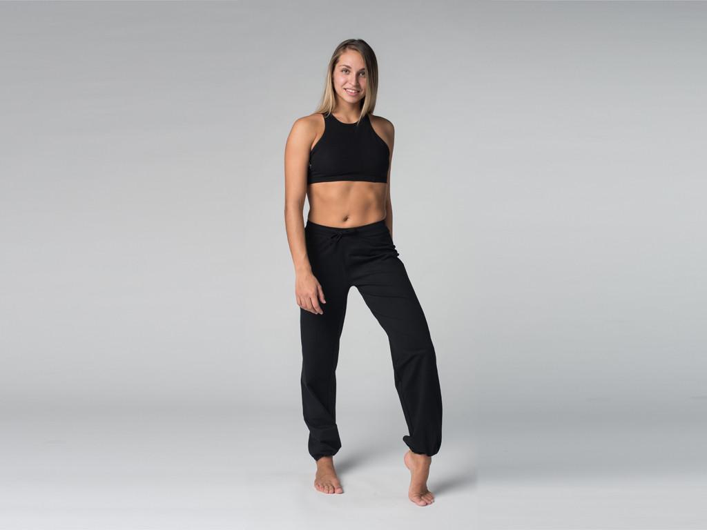 Pantalon de yoga Param - 95% coton Bio et 5% Lycra Noir